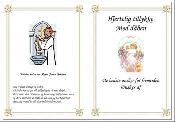 Dåbs Telegram broderet