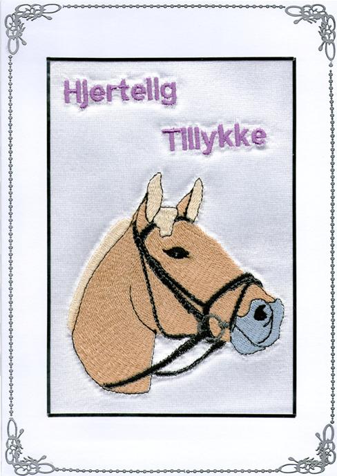 Tillykke telegram Fjordhest