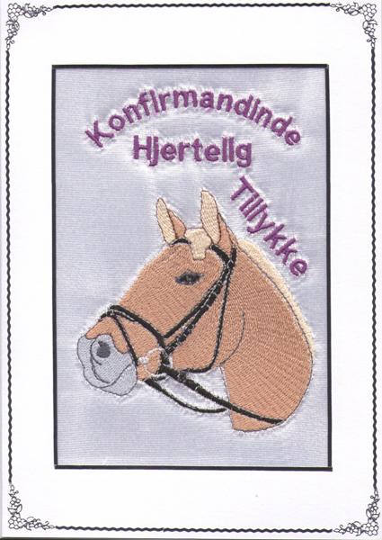 Konfirmand Telegram Pige Fjord Hest