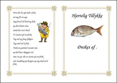 Lystfisker med stage og fisk