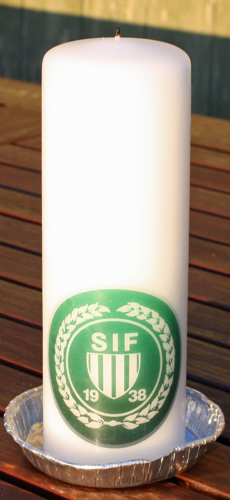 Stearinlys med print,silketryk   FOTOLYS