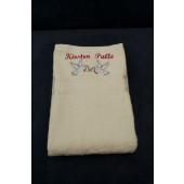 Håndklæde med navne broderi