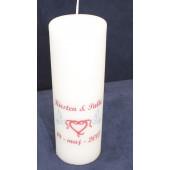 Print på Stearinlys stearinlys med tryk Bryllup