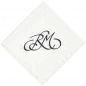 Kaffe servietter med monogram