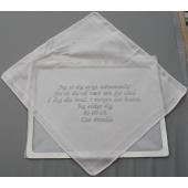 Lommetørklæde brudens gave til Gom