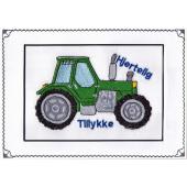 Grøn traktor